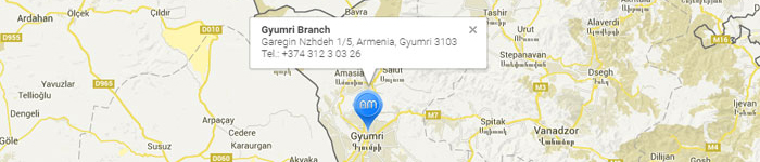 Map Gyumri Branch